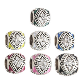 Wholesale Crystal Square Beads Bracelets - Square Crystal Charm Bead 925 Silver Plated Fashion Women Jewelry Stunning Design European Style For Pandora Bracelet PANA056
