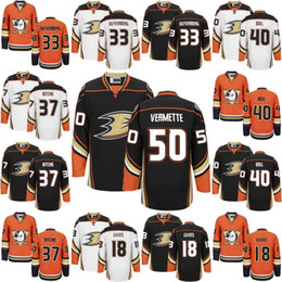 2017 Anaheim Ducks Hockey Jerseys 50 Antoine Vermette 37 Nick Ritchie 33  Jakob Silfverberg 40 Jared Boll Patrick Eaves Men Youth Jersey f3c3878b4