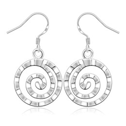 Wholesale Chandelier Thread - 925 Jewelry Silver Plated Earrings 925-sterling-silver Fashion Jewelry Round Thread Earrings Hot Sale Simple Style Dangle Earring Cheap Gift