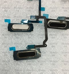 Wholesale Cable Menu - 10pcs Original Fingerprint Sensor Home Return Key Menu Button Flex Cable For Samsung Galaxy S5 I9600 G900i G900F G900A G900H G900T