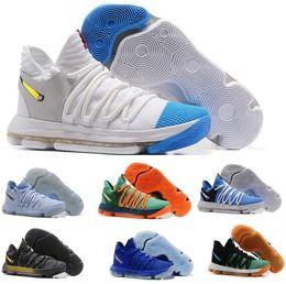 Wholesale Kds Shoes - 2017 KD 10 Basketball Shoes Men Men's White Tennis BHM Kevin Durant 10 X Kds Floral Aunt Pearls Easter Sport Shoe Athletic Sneakers