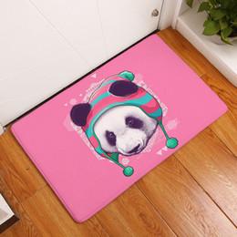Argentina 40x60 cm alfombra para la sala de estar 3D panda alfombra de dibujos animados felpudo para la cocina / dormitorio / cuarto de baño decoración para el hogar suave supplier 3d bathroom rugs Suministro