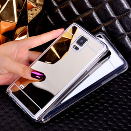 Wholesale Gold Edge Chrome - For iphone 6s Luxury Electroplate Chrome Ultra-thin Soft Mirror TPU Case Protective Back phone Cover for 6 plus 5s Samsung S7 S6 edge Note 5
