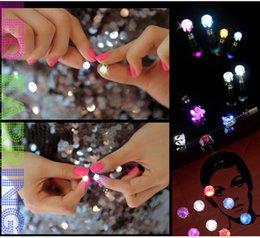 Wholesale Bars Earrings - 2017 Korean version of the diamond earrings, bar nightclub influx of people earrings, led light emitting earrings wholesale DHL free shippin
