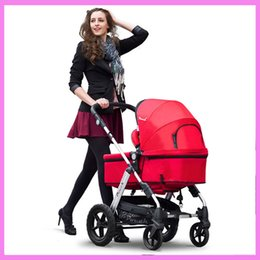 Wholesale Luxury Baby Car Seats - Luxury High Landscape Newborn Infant Baby Stroller Folding Stroller Brand Car Seat Stroller Smart Folding Pram Pushchair