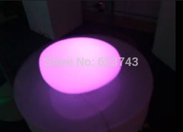 Wholesale Led Ball Pool - Wholesale- Rechargeable Colorful glowing lighted Cobble stone LED SL-LCL-2515,LED Swimming Pool Lamp LED Ball controller+110 220V Adapter