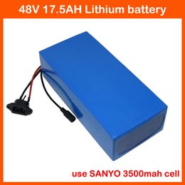 Wholesale Battery Charger For Sanyo - 48V 1000W bicycle battery 48V 17.5AH lithium Battery use for SANYO 3500MAH Cell 54.6V 2A Charger Free customs fee