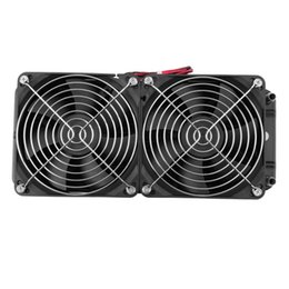Wholesale Cpu Water Cooling Radiator - Wholesale-Aluminum 240mm Water Cooling cooled Row Heat Exchanger Radiator Fan for CPU PC