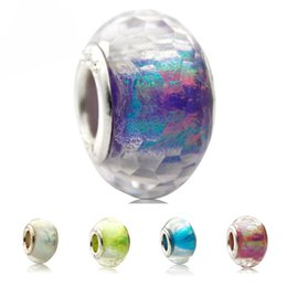 Wholesale Murano Glass Bead Charms - New Arrival Brilliant European Fashion Charms Murano Glass Beads Fit pandora Style Charms Bracelets for Women DIY Jewelry Accessories
