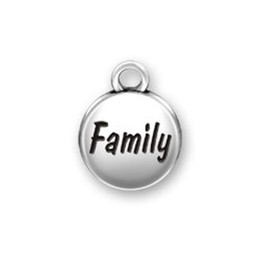 Wholesale Fun Bracelets - My Shape Circle Charms Series DIY Letter FAMILY and FUN and HAPPINESS Antique Silver Charms for Necklaces or Bracelets