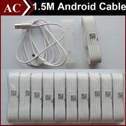 Lg cabos de alimentação on-line-5ft 1.5 m cabo de dados micro usb v8 cabo de carga de carregamento de transferência carregador de energia cabo para android telefone samsung s6 s7 borda htc lg alta velocidade dhl