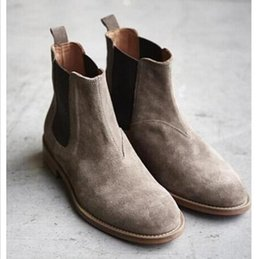 Wholesale Boots Men New - 2016 NEW style kanye west Top quality 4 color euro 40-44 slp designer men shoes luxury brand Chelsea mens boots shoes Free shipping
