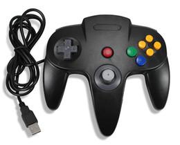 портативная консоль wi-fi Скидка Проводной USB-контроллер для Nintend N64 джойстик игры проводной геймпад джойстик для Gamecube Controle для ПК / Mac геймпад