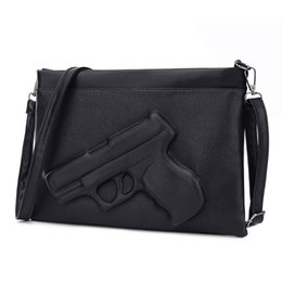 Wholesale Wholesale Messenger Bags For Women - Wholesale-3D Print Gun Bag women bag Designer clutch purse famous brand women messenger bags for ladies Crossbody Bag Envelope Handbags