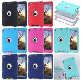 Wholesale Ipad Back Cover Housing - Case for Apple ipad mini 1   2   3 full body protective cool antiskid back case silicon+plastic 3 in 1 Cover shell coque housing