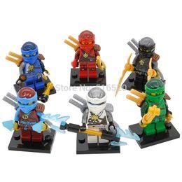Wholesale Ninja Bricks - Wholesale Ninja Minifigures Kai Jay Lloyd Zane 60pcs lot Building Blocks Sets Models Mini Figures Bricks Toys For Children