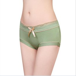 Wholesale Model Sexy Girl Underwear - Wholesale-2016 Model Cotton Women Underwear Bow Decorate Middle Waist Women Panties Sexy Girl Shorts free shipping