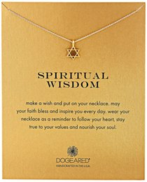 Wholesale Jewelry Point Star Pendant - Hollow Star Dogeared Necklace (Spiritual wisdom ), Noble and Delicate Jewelry,Six-Pointed Star Choker Necklaces Classical Birthday Present