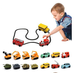 Wholesale Magic Truck - Creative Gift for Child MINI Magic Pen Inductive Fangle Vechicle Children's CAR Truck Tank Toy Car Random Color Delivery b1431