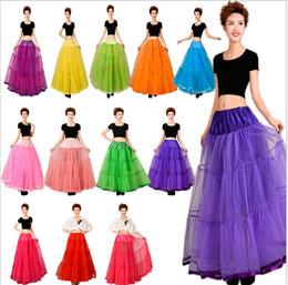 Wholesale High Waist Petticoats - Tulle Skirts Women High Waist Retro Vintage Petticoat Party Tutu Skirt Crinoline Underskirt Faldas Female Ball Gown Skirt Summer
