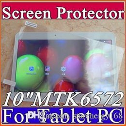"Wholesale Protector For Screen Tablet - Original Screen Protective Film Protector Guard for 10"" 10 inch MTK6572 MTK6592 MTK6582 Android 3G Phablet Tablet PC I-PG"