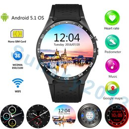 Wholesale Used Play - KW88 Android 3G Smart Watch Phone MTK6580 Quad Core 4G ROM Bluetooth Sports Watches Supports Wifi GPS Heart Rate Monitor Goolge Play for iOS