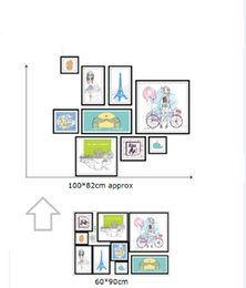 Wholesale Photo Stickers Paper - XH9285 3D DIY Photo Frame Tree Wall Stickers Family Cartoon Memory Tree Wall Decor Decorative Adesivo De Parede Home Decor