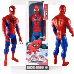 Wholesale Marvel Avengers Heros Figures - Avengers PVC Action Figures Marvel Heros 30cm Iron Man Spiderman Captain America Ultron Wolverine Figure Toys DHL