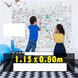 Wholesale Boys Baby Book Years - Wholesale-1.15*0.80m Children's coloring book scene painting theme painting graffiti coloring baby Great Paper