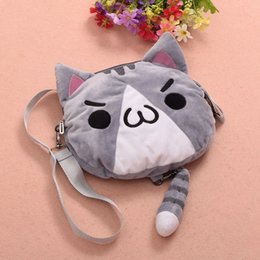 Wholesale Chicken Fries - Fried Chicken Cat Shoulder Bag Anime Kaomoji-kun Emotiction Cosplay Cute Plush Cross-body Bag 3 Colors Women Gifts