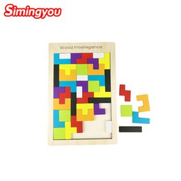 Wholesale Wood Brain Teaser Puzzles - Wooden Quality Tangram Brain-Teaser Puzzle Tetris Preschool Magination Child Wood Intellegence Toy Best Gift For Baby