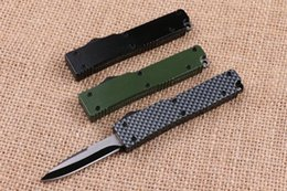 Wholesale Microtech Tactical Knives - mini microtech Key buckle knife aluminum T6 green black carton fiber double action Folding knife gift knife xmas Knives EDC tools 1PCS