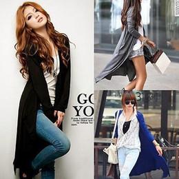 Wholesale- New Women Long Sleeve Knitted Cardigan Loose Sweater Outwear Long Jacket Coat от