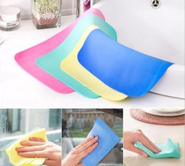 Wholesale Wholesale Glass Baths - hot sale High Efficient Anti-grease Color Dish Cloth Bamboo Fiber Washing Towel Cleaning Towels Practical Home Car Bath Cleaner Supplies