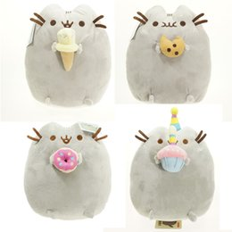 Wholesale Cute Toys For Dogs - 2016 Kids Birthday Plush Cute New Pusheen Cat Cookie & Icecream & Doughnut 4 Styles Stuffed & Plush Animals Toys for Girls