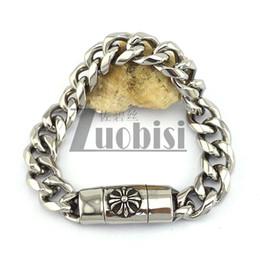Wholesale Cheap Men Bracelets Crosses - Cross Charms Bracelet For Men Simple And Cheap Bracelet Good Quality Stainless Steel Bracelet Wholesale Free Shipping