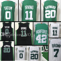 Wholesale Gordon Jersey - 2017-18 New #11 Kyrie Irving 0 Jayson Tatum 20 Gordon Hayward Jersey Cheap sales 42 Al Horford 7 Jaylen Brown stitched Jerseys
