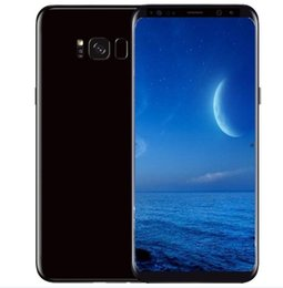 Wholesale Videos Free - Free DHL Goophone S8 S8+ cell phones android 7.0 octa core shown 4G LTE MTK6592 4GB RAM 64G ROM t mobile smartphones