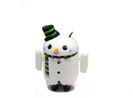 Wholesale Cute Advertising Mascots - CUSTOM Cute Android Snowman Mascot Costume Adult Professional Advertising Robot Android Mascotte Fancy Dress Kits for Chirstmas