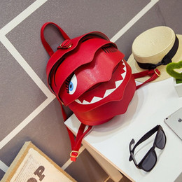 Presentes beatles on-line-Mulheres New Designer Bag Pangolim Beatles Único Saco de Ombro Mochila Presente Casal Amante pouco monstros tubarão