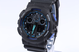 Wholesale Watch Led Waterproof - Newest Men GA100 Sports Watches Waterproof wristwatches Luxury Digital Watch 13 color