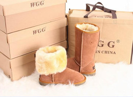 Wholesale Ladies Pink Suede Boots - Free Shipping 2017 High Quality WGG Promotional Ladies Classic High Boots Women Boots Snow Boots Snow Boot US SIZE 5 --- 13