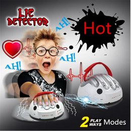 Wholesale Shock Test - Tricky Funny Adjustable Adult Polygraph Test Micro Electric Shock Lie Detector Shocking Liar Truth Party Game Consoles Toy Gifts