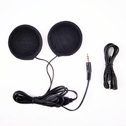 Wholesale Helmet Motorcycle Can - Motorcycle helmet headset can connect the phone listening to music, headphones with remote control to adjust the volume intercom