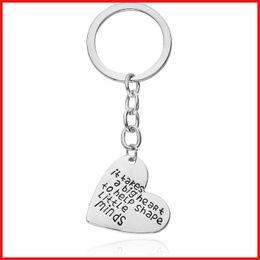 Wholesale Wholesale Metal Jewelry Initials - 2016 It take big heart letter initial love keychain key rings metal heart love pendant key chain bag hangs jewelry Christmas gift 170589