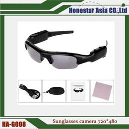 dfa55bc5f0 Gafas de sol Spy cámara oculta videocámara Mini DV DVR Gafas de vídeo móvil  cámara 720 * 480 gafas con envío gratis