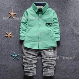 Wholesale Chinese Boys Suit - 2016 new children's suits cotton children suits wholesale glasses set fashion models