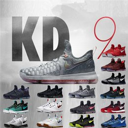 Wholesale Men S Kd Shoes - Grey Wolf Kevin Durant 9s Men \'S Sneakers Warriors Home Us Size 7 -12 Fashion 2017 Men Shoes Hot Sale Kd 9 Mens Casual Shoes Kd9 Oreo