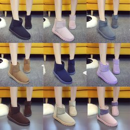 Wholesale Silk Velvet Cloth - Autumn and Winter Snow Boots Female Boots with A Short Velvet Warm Cotton Boots Classic Slip Women Fashion Shoes