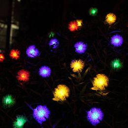 Wholesale Snow String Lights - Snow flower 20 LEDS Solar LED String 4.8 Metre Christmas white Lights string Outdoor Christmas